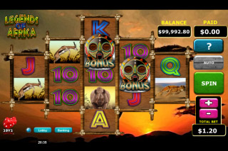 Legends Of Africa Mobile Slot Reels