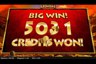 Leonidas King Of Spartans Mobile Slot Big Win