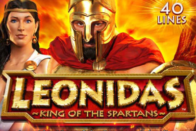 Leonidas King Of Spartans Mobile Slot Logo