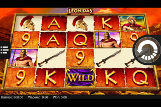 Leonidas King Of Spartans Mobile Slot Reels