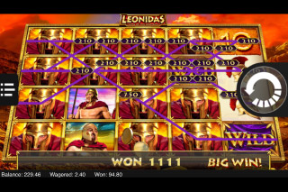 Leonidas King Of Spartans Mobile Slot Wild Reels
