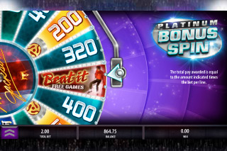 Michael Jackson Mobile Slot Bonus Wheel