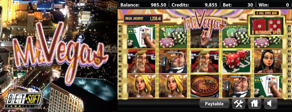 Betsoft Mr Vegas Mobile Slot Screenshot