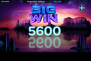 Neon Reels Mobile Slot Big Win