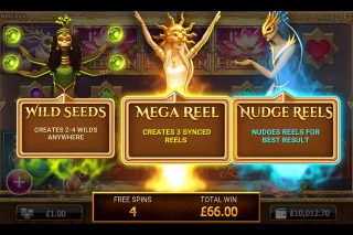 Nirvana Mobile Slot Free Spins