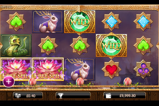 Nirvana Mobile Slot Reels
