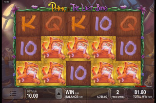 Peter & The Lost Boys Mobile Slot Free Spins