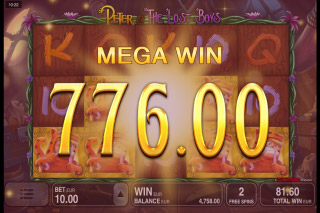 Peter & The Lost Boys Mobile Slot Mega Win