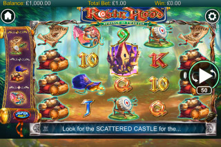 Robin Hood Prince Of Tweets Mobile Slot Reels