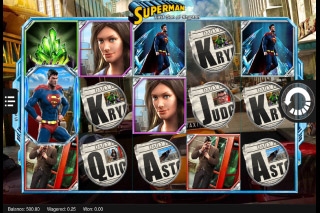 Superman Last Son of Krypton Mobile Slot Reels