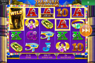 Treasures Of The Pyramids Mobile Slot Free Spins