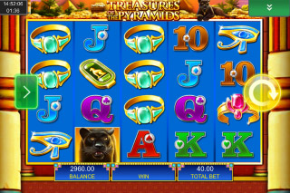 Treasures Of The Pyramids Mobile Slot Reels