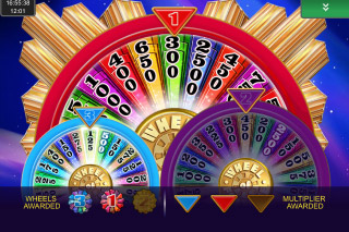 Wheel of Fortune Ultra 5 Reels Mobile Slot Bonus Wheel