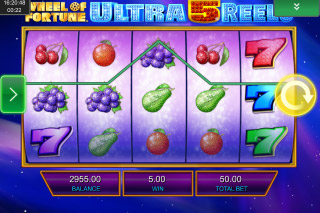 Wheel of Fortune Ultra 5 Reels Mobile Slot Reels