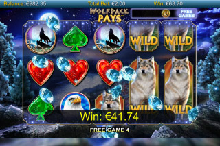 Wolfpack Pays Mobile Slot Free Spins