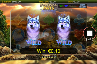 Wolfpack Pays Mobile Slot Wilds