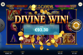 Age of the Gods Mobile Slot Bonus Game