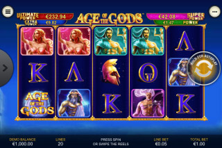 Age of the Gods Mobile Slot Reels