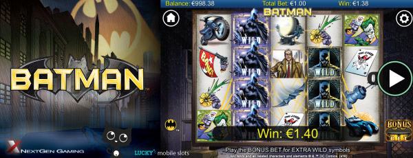 Batman Mobile Slot Screenshot