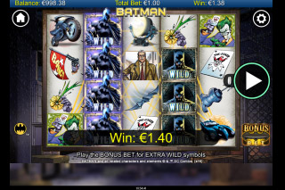 Batman Mobile Slot Reels