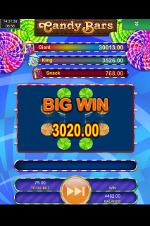 Candy Bars Mobile Slot Big Win