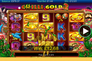 Chilli Gold 2 Mobile Slot Free Spins