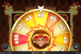 Fire Joker Mobile Slot Wheel of Multipliers
