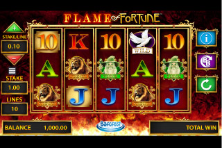 Flame of Fortune Mobile Slot Reels