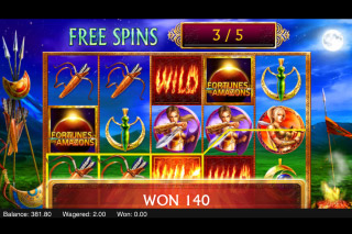 Fortunes of the Amazons Mobile Slot Free Spins