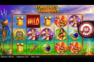 Fortunes of the Amazons Mobile Slot Reels