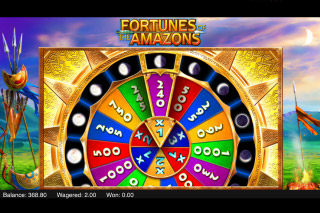 Fortunes of the Amazons Mobile Slot Wheel of Fortune