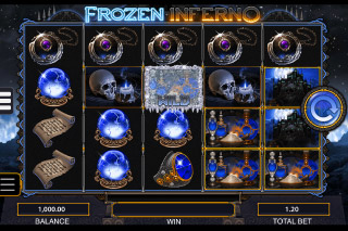 Frozen Inferno Mobile Slot Reels Blue Wizard