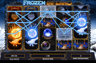Frozen Inferno Mobile Slot Stacked Symbols