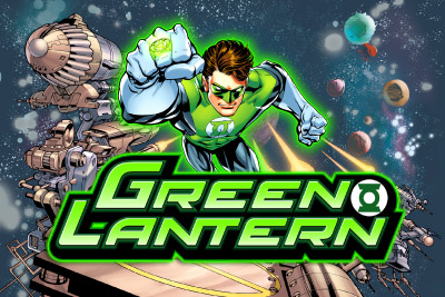 Green Lantern Mobile Slot Logo