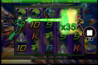 Green Lantern Mobile Slot Bonus