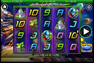 Green Lantern Mobile Slot Reels