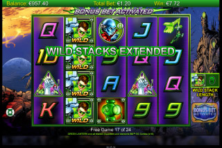 Green Lantern Mobile Slot Wild Stacks