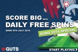Guts Casino Free Spins Special for Euro 2016