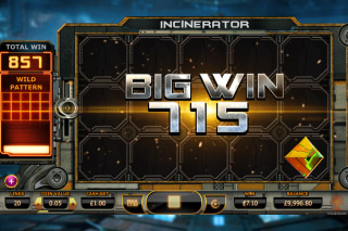 Incinerator Mobile Slot Big Win