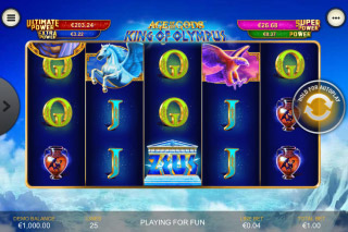 King of Olympus Mobile Slot Reels