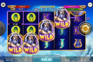 King of Olympus Mobile Slot Wild Win