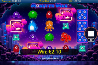 Monster Wins Mobile Slot Bonus