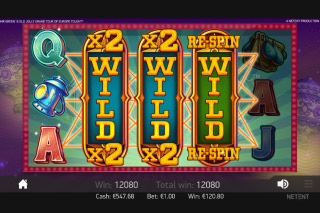 Mr Green's Grand Tour Mobile Slot Wilds