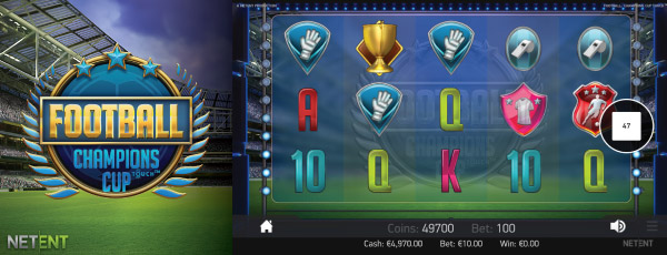 NetEnt Football Champions Cup Mobile Slot