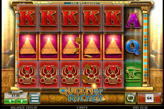 Queen of Riches Mobile Slot 4 of Kinds