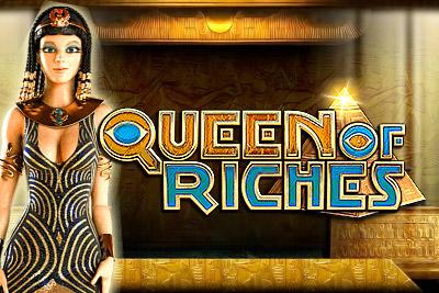 Queen of Riches Mobile Slot Logo
