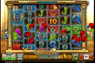 Queen of Riches Mobile Slot Reels