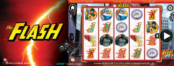The Flash Mobile Slot Screenshot