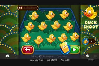 Theme Park Mobile Slot Duck Shoot Bonus
