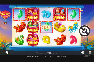 Theme Park Mobile Slot Reels